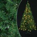 Kerstboom 150cm, kunstkerstboom, met 100 LED lampjes, met verlichting, donkergroen