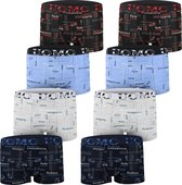AltinModa® 8 pack jongens ondergoed - Voordelige jongens boxershort - katoenen onderbroek 128/134 5973