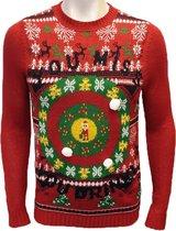 Foute Kersttrui Heren / Mannen - Christmas Sweater - You Miss You Drink - Kerst Trui Maat L