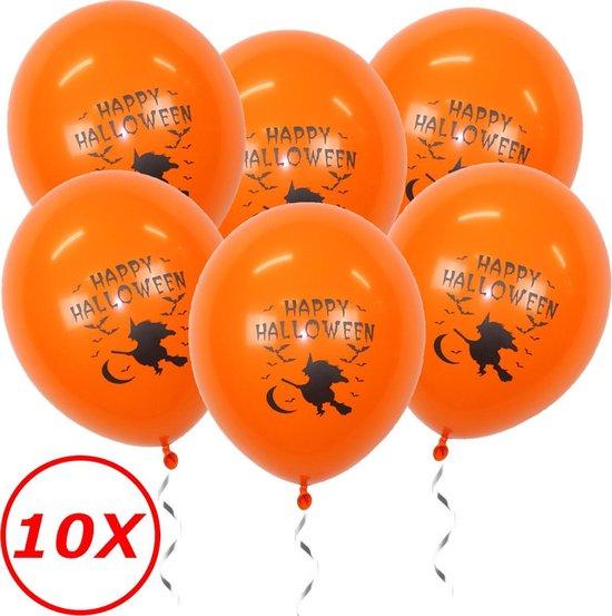 Halloween Versiering Decoratie Helium Ballonnen Feest Versiering Halloween Accessoires Ballon Oranje Heks – 10 Stuks