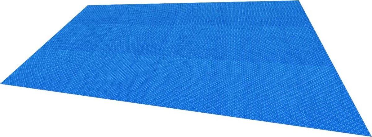 Zonnefolie zwembad vierkant 8x5 m, 400μm, blauw, gemaakt van PE-folie met luchtkamers
