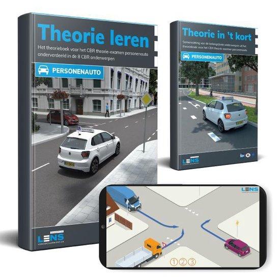 Boek cover Theorieboek Rijbewijs B 2021 Auto met Samenvatting en Apps - Theorie Leren CBR examen van Lens Verkeersleermiddelen (Onbekend)