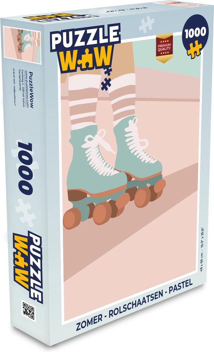 Puzzel Zomer - Rolschaatsen - Pastel - Legpuzzel - Puzzel 1000 stukjes volwassenen