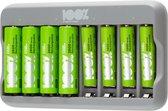 100% Peak Power batterij oplader U812 - Duurzame Keuze - USB batterijlader incl. oplaadbare batterijen
