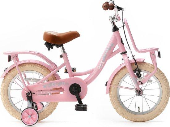 Nogan Puck - Kinderfiets - Meisjesfiets - 14 inch - Roze