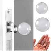 FSW-Products - Zelfklevende deurbeschermers - 2 Stuks - Transparant - 4cm dia - Deurbescherming - Deurstoppers - Muurbeschermer - Muurbescherming - Deurstoppers - Siliconen deurstoppers - Deurklink buffers - Deurklink - Flexibel - Stootrubber deur