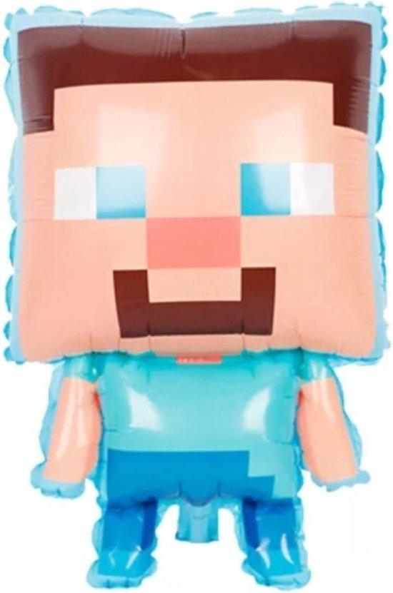 Minecraft-Poppetje-Folie-Ballon