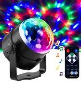 Discolamp op geluid - Discobal - Disco lamp - Feestverlichting - Discobol - Kinderen - Discolampen - Licht - Bal - Met afstandsbediening