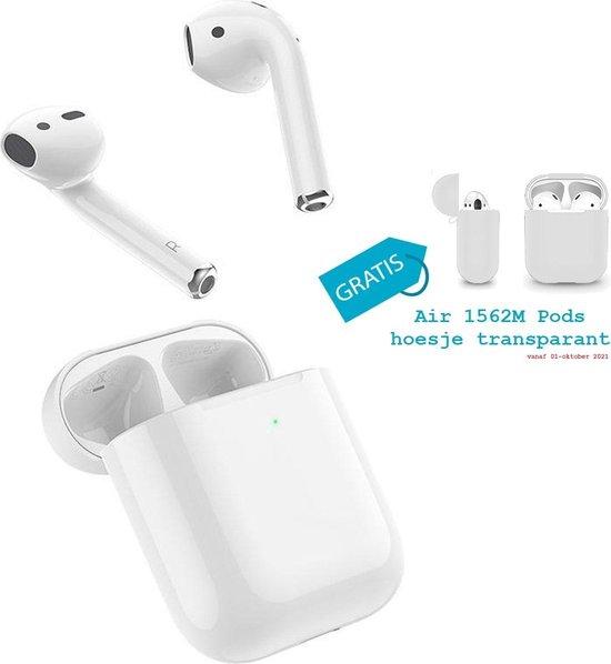 Air 1562M Pods - draadloze bluetooth oordopjes - volledig draadloze oortjes met oplaadcase - Earpods Android & Apple met multi-touch functie