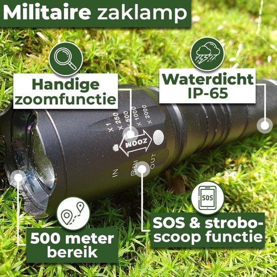 Militaire Zaklamp LED-2000 Lumen-Hardcase Opbergdoos-Waterproof IPX-6