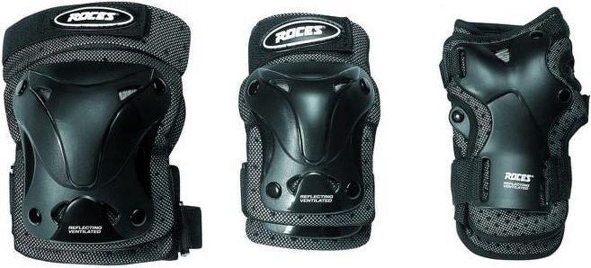 Roces - Skate beschermset - 3-Delig - Junior - Zwart - Maat M - Ventilated - Skate beschermset voor kinderen