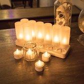 LED kaarsen 12-15 branduren - 12 stuks - Oplaadbaar