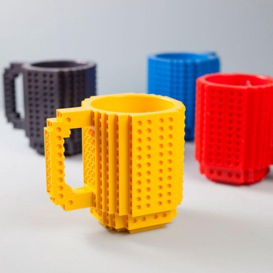 Build a brick Lego Mok - Geel