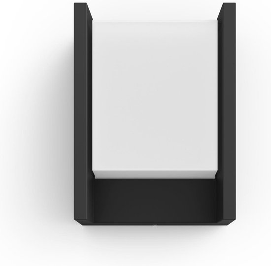 Philips Hue Fuzo wandlamp - White - zwart - breed - Buiten
