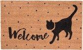 Clayre & Eef Deurmat - Kat Welcome - 75x45x1 cm