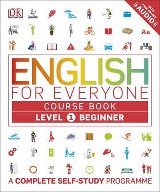 Boek cover English for Everyone Course Book Level 1 Beginner van Dk (Hardcover)