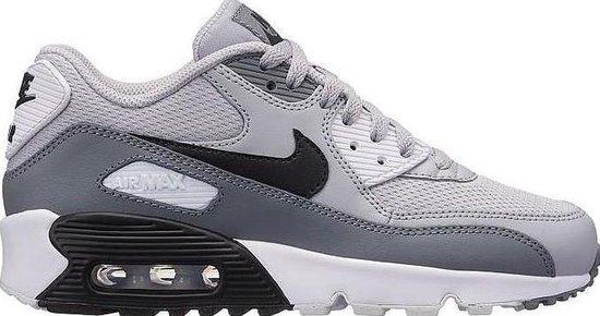 Nike Air Max 90 Mesh (GS) Sneakers - Maat 40 - Unisex - grijs/zwart/wit
