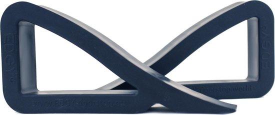 EDGY - deur- en vensterstopper - Zwart - Verpakt per 2