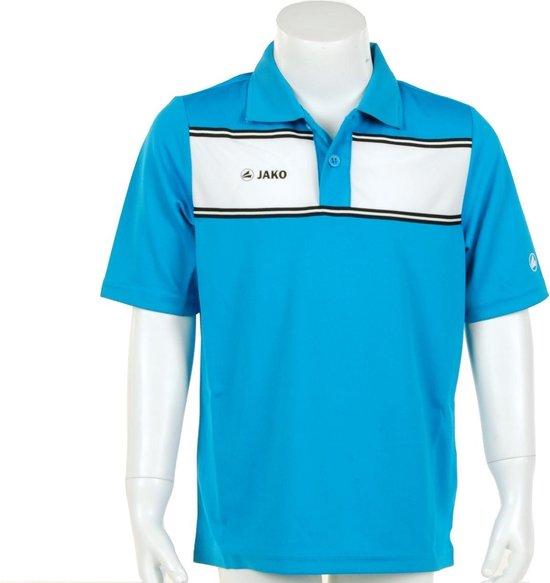 Jako Polo Player Junior - Sportpolo - Kinderen - Maat 128 - Azur Blue;White