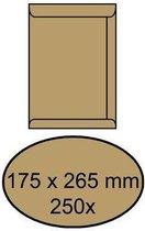 Akte Envelop 175x265mm ZK 90gram Bruin