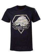 Metal Gear Solid V - Diamond Dogs Camo Logo Men T-shirt - Black