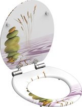 SCHÜTTE WC-Bril 80122 BALANCE - MDF-Hout - Soft Close - Verchroomde Scharnieren - Decor - 3-zijdige Print