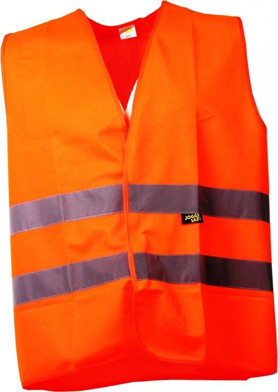 Joggy Safe Veiligheidsvest Blanco Unisex Oranje Maat L