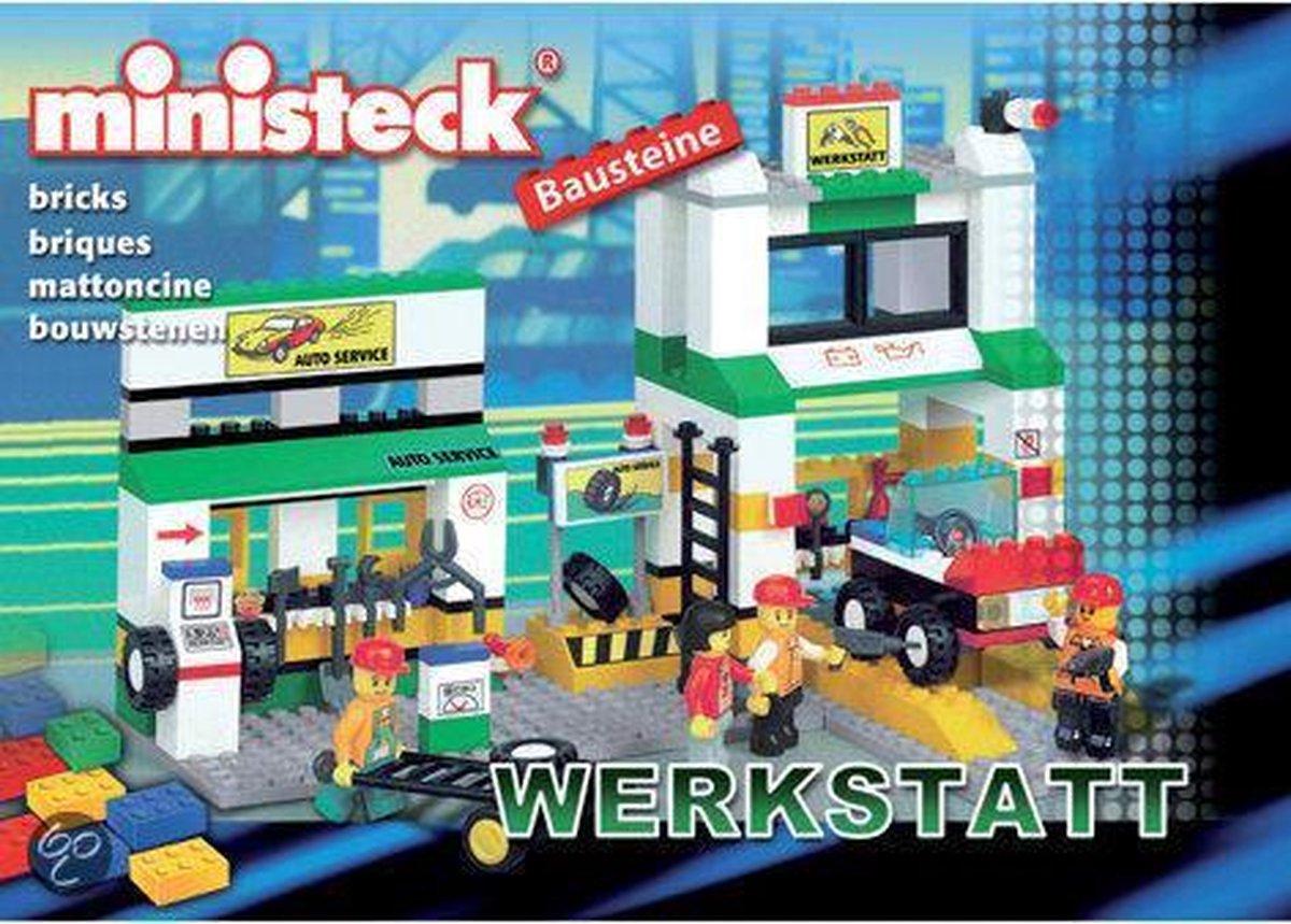 Ministeck Bouwstenen Werkplaats met Auto