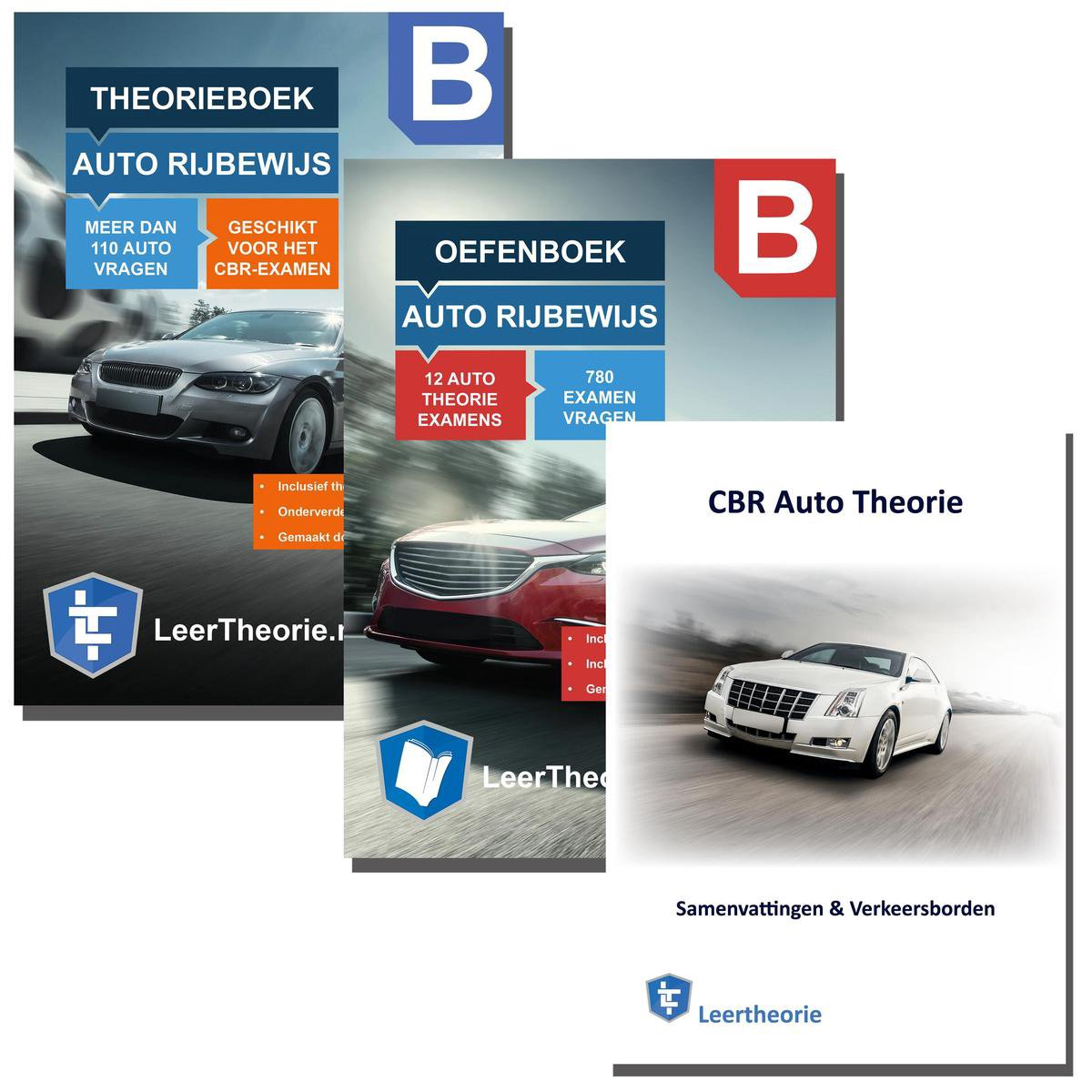 Autotheorieboek Rijbewijs B met Oefenboek en Samenvatting CBR Auto Theorie Leren Rijbewijs B 2021