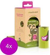 Earth Rated Poepzakjes Navulling Box Lavendel - Hondenpoepzakjes - 4 x Groen 8 rollen à 15 stuks