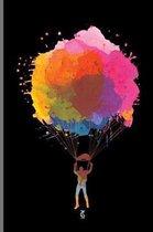 Watercolor Skydiving Parachuting