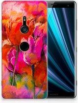Sony Xperia XZ3 TPU Hoesje Design Tulpen