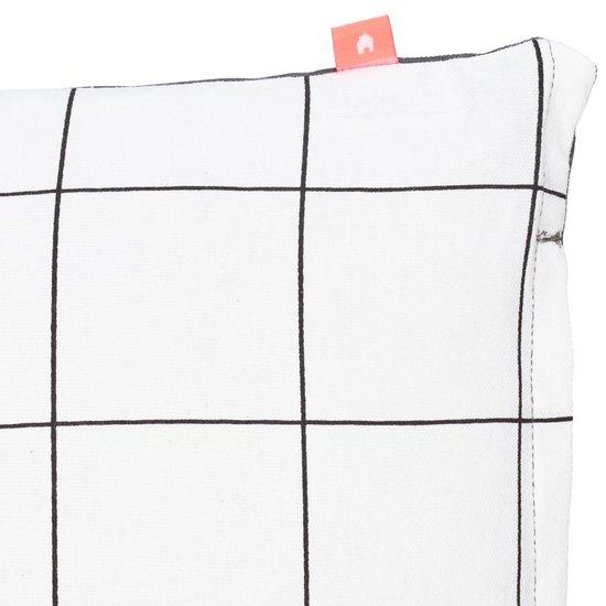 Pt, Big Square Rectangle - Sierkussen - 50x30 cm - Wit