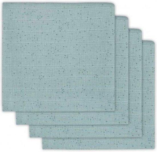 Jollein Mini dots Hydrofiel luier - stone green (4pack)