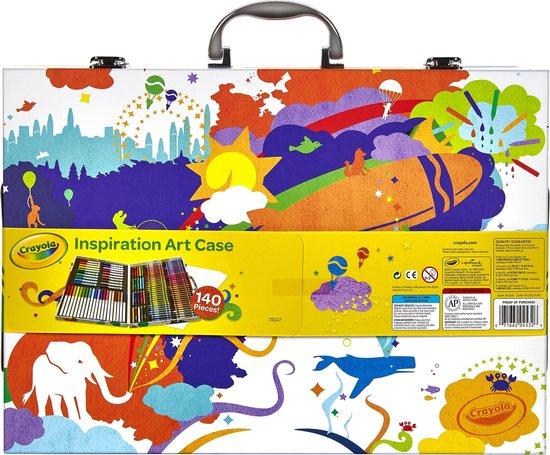 Afbeelding van Crayola Kleurkoffer Inspiratie (140st) speelgoed