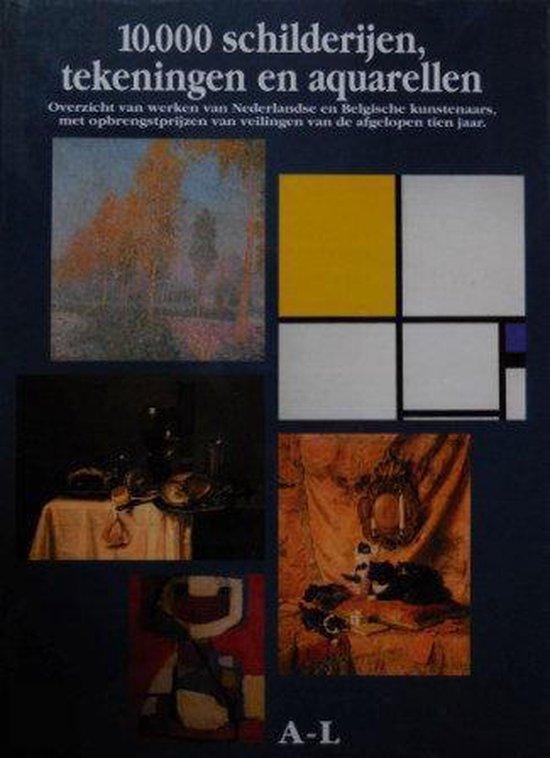 10.000 schilderijen, tekeningen en aquarellen (twee delen) - Auteur Onbekend  
