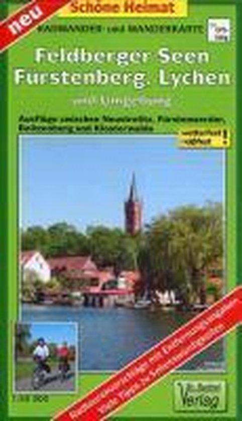 Feldberger Seen, Fürstenberg, Lychen und Umgebung Radwander- und Wanderkarte 1 : 50 000