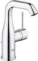 GROHE Essence New Wastafelkraan - Medium draaibare uitloop - Met trek-waste - Chroom