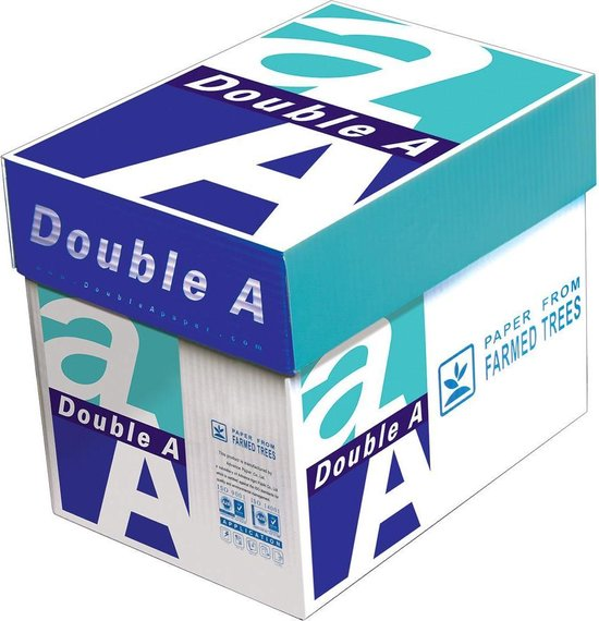 Afbeelding van Double A A4  printpapier - 2500 vel - 80g - Non stop box