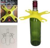 Universele wijnglashouder op fles lime I Present Time