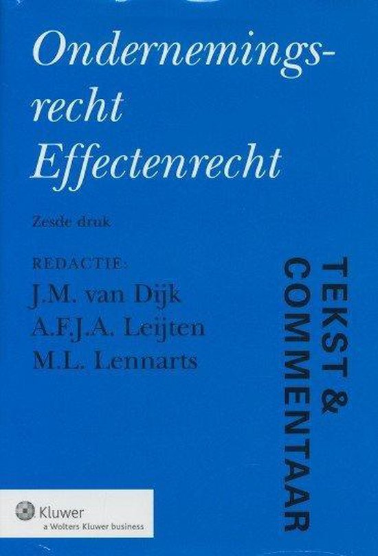 Ondernemingsrecht Effectenrecht - Wolters Kluwer Nederland B.V. | Fthsonline.com