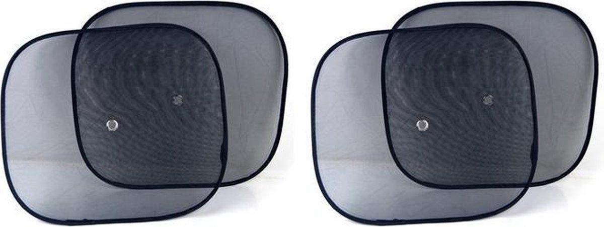 Zonwering / Zonnescherm Auto - 4 Stuks |  UV Protectie | 4 Stuks Autozonwering Voor Autoraam / Zijru