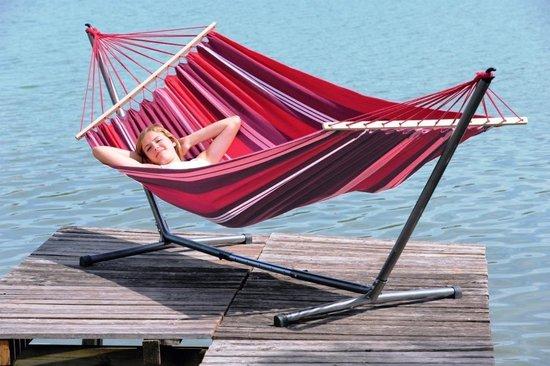 Amazonas Hangmat SummerSet - Aruba fuego hangmat met standaard Sumo