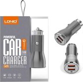 LDNIO - Premium Snellader Auto Lader met 2 USB Poorten met Lightning Oplaad Kabel - Qualcom 3.0 aansluiting