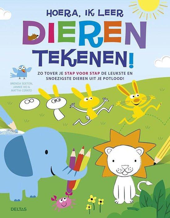Boek cover Hoera, ik leer dieren tekenen! van Brenda Sexton (Paperback)