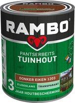 Rambo Tuinhout pantserbeits zijdeglans transparant donker eiken 1203 750 ml