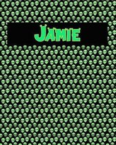 120 Page Handwriting Practice Book with Green Alien Cover Jamie