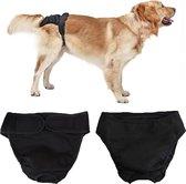 Rapid Meteor® Hondenluier / Loops broekje / Wasbaar - Honden Luier - L - Zwart