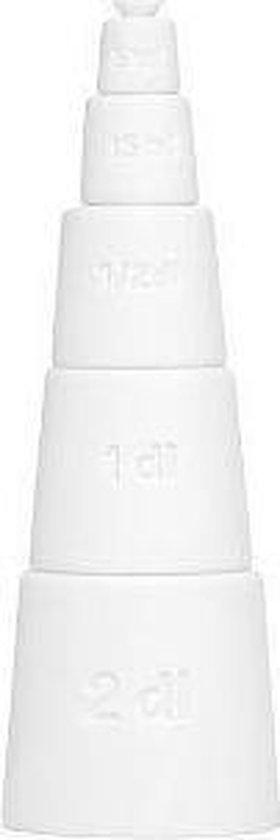 Alessi Tower - Maatbekers 5-delig stapelbaar - Wit
