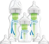 Dr. Brown's Options+ Anti-colic Bottle Startpakket Flessen - Brede Hals Flessen - 3 stuks